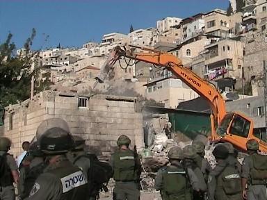 Demolition in the Bustan